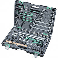 """Набор торцевых головок 1/4"""" и 1/2""""DR 4-32 мм и инструмента 119 предметов  Stels"""