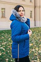 Женская зимняя куртка-пуховик большие размеры
