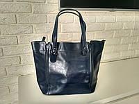"""Женская кожаная сумка """"Эрика Dark  blue"""""""