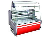 Кондитерская холодильная витрина Орбита среднетемпературная с прямым стеклом