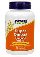 Жирные кислоты SUPER OMEGA 3-6-9 1200mg 90 капсул