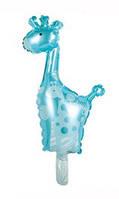 """Мини шарик """"Жираф голубой"""". Размер: 28см*53см. Пр-во:Китай"""