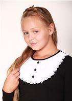 Блуза черная с кружевом, фото 1