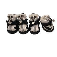 Ботинки для собак с мехом -Косточка-Белый