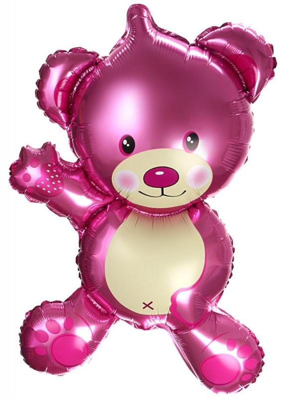 """Мини шарик """"Мишка розовый"""". Размер: 26см*46см. Пр-во:Китай."""