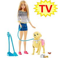 "Кукла Barbie ""Прогулка с щенком"" / Barbie Walk and Potty Pup"