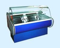 Кондитерская холодильная витрина Европа среднетемпературная с выпуклым стеклом
