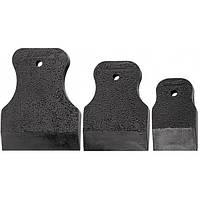 Набор шпателей 40-60-80 мм черная резина 3 шт  SPARTA