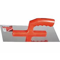 Гладилка стальная 280х130 мм зеркальная полировка пластмассовая ручка  MATRIX
