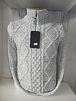 Светр чоловічий LYM23 пів-замку, модель №3129 001/ купити оптом зимовий светр
