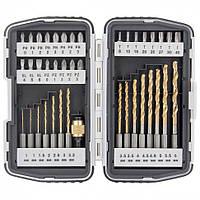 Набор бит PH,PZ,SL,T + сверла по металлу и магнитный держатель 40 предметов MTX