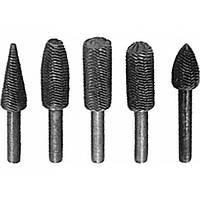 Шарошки для фигурных отверстий по металлу 5 предметов  FIT
