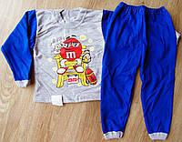 Детская тёплая пижама на байке M&M's на мальчика