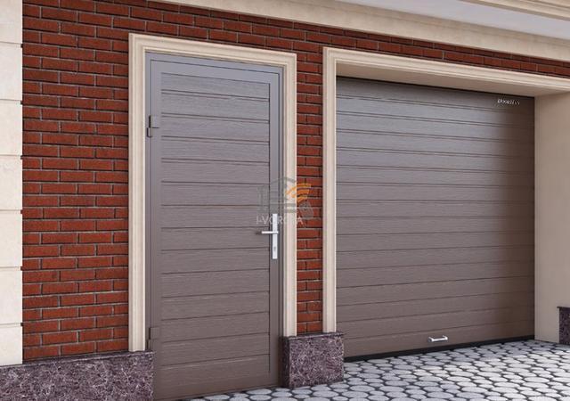 широкие гаражные ворота