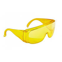 Очки защитные открытого типа желтые ударопрочный поликарбонат СИБРТЕХ
