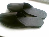 Тапочки-шлепки кожаные ЧЗ01