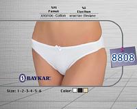 Женское белье оптом. Трусы женcкие ТМ Baykar р.1 (XS , 38-40) белый