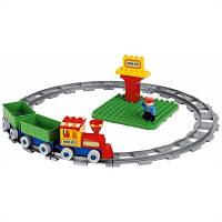 Детский конструктор железная дорога с поездом Unico Plus SECCHIO TRENINO