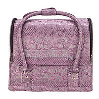 Бьюти Кейс для косметики, текстурный, фиолетовый