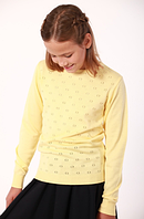 Джемпер  для девочек  желтый с узором