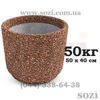 Копия Цветочник уличный из бетона 50х40см - КБ-32  - купить цена грн Сози Киев