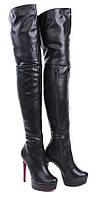 Женские высокие сапоги ботфорты размеры 39, фото 1