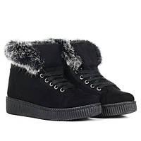 Женские короткие зимние ботинки