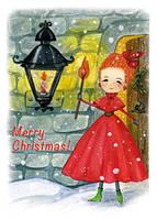 """Рождественская открытка """"Девочка со спичкой"""", фото 1"""