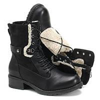 Высокие ботинки на шнуровке на холодную зиму