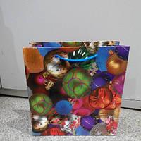 Пакет подарочный новогодний 24*24 см