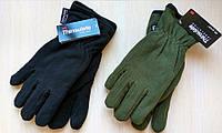 Перчатки флисовые двойные, цвета Олива