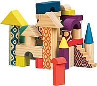 Деревянные кубики Еловый домик Battat (BX1361Z)