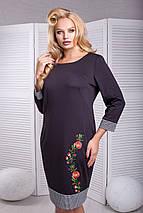 Женское платье из джерси для пышных (Александра lzn), фото 2