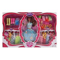 Кукла с нарядом 093E (30шт) 27см,дочка10см,платье8шт,велосипед,обувь,микс видов,в кор-ке,51-33-6см