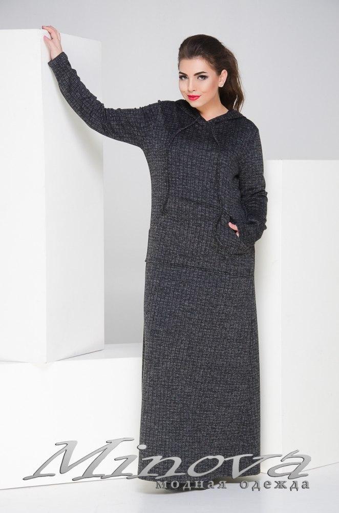 Платье женское длинное большого размера