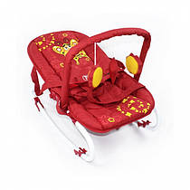 Детский шезлонг-качалка TILLY  BT-BB-0001 RED. Гарантия качества. Быстрая доставка.