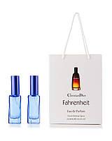 2 по 20 мл парфюм в подарочной упаковке Fahrenheit Dior