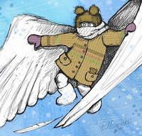 """Почтовая открытка """"Зимний ангел хранитель"""", фото 1"""