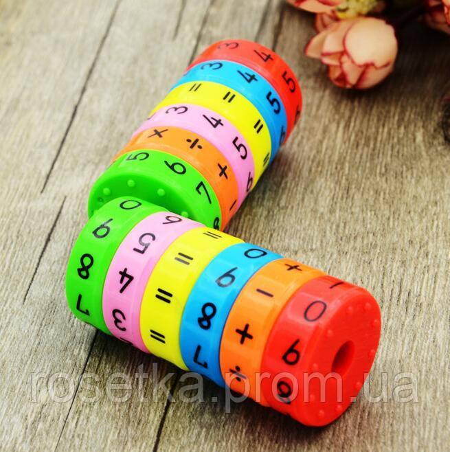 Разноцветнаямагнитнаяголоволомка в формецилиндра для изучения арифметики