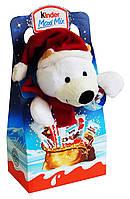Новогодний набор сладостей Kinder Maxi Mix с мягкой игрушкой (Белый Мишка), 133 г.
