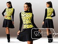 Платье женское со звёздочками ткань фронтальный трикотаж ангора дайвинг акция!