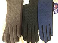Перчатка стеганаяиз двухцветного трикотажа женская