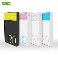Портативная батарея Power Bank GOLF Hive20  20000mah white