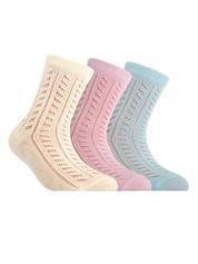 Носки для девочки ажурные Conte  MISS 7С-76СП , размер 18, 115 , 85% хлопок