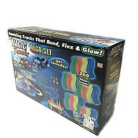 Детский светящийся гибкий трек Magic Tracks: 360 деталей, Светящаяся дорога с машинкой Меджик Трекс, Автотрек