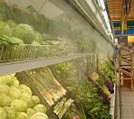 Охлаждение овощей/фруктов в супермаркетах с помощью туманообразования!!