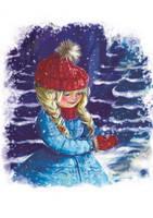 """Зимняя открытка """"Сніжинки"""", фото 1"""