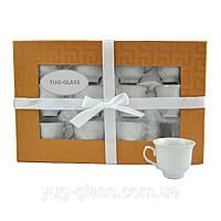 Набор чашек для кофе 80 мл (3425) 12 предметный.