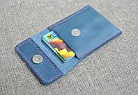 Кожаный чехол для карточек ручной работы