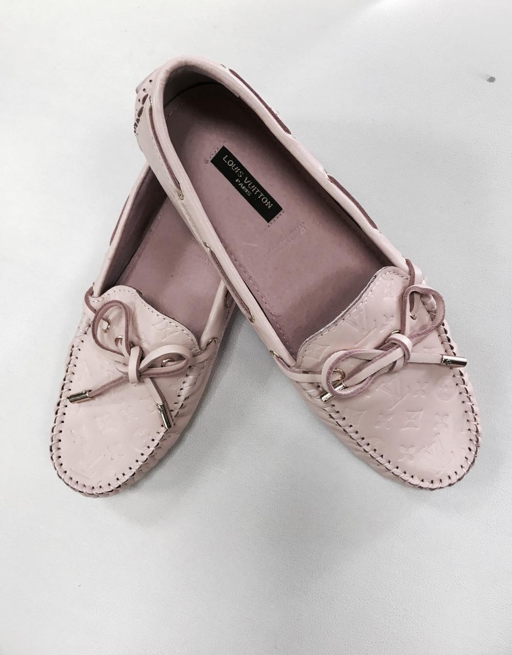 Макасины женские Louis Vuitton розовые